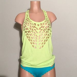 Trina Turk cover-up/workout shirt. New